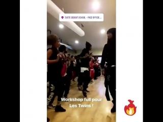 Les Twins Paris workshop 3/1/18 💕Via @justedebout_officiel IGS 👻
