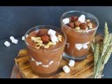 Шоколадный мусс с маршмеллоу и фундуком