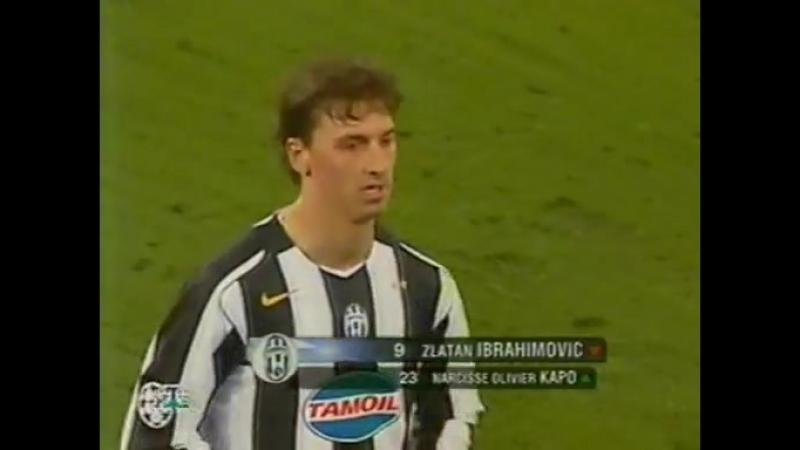 111 CL 2004 2005 Juventus AFC Ajax 1 0 23 11 2004 HL