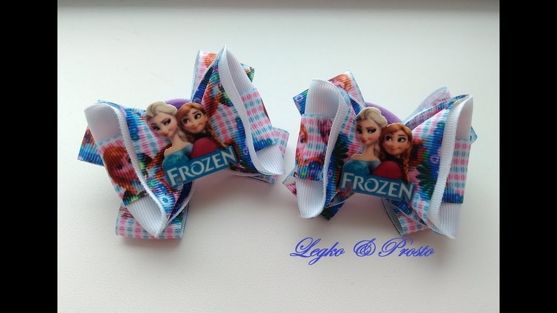 Бантики мультяшки из репсовых лент МК Канзаши Ribbon cartoons of REP ribbons Kanzashi MK