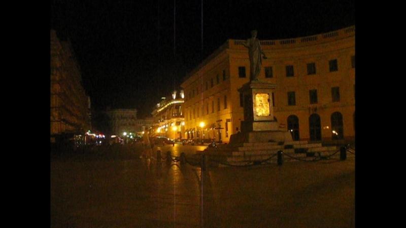 Моя интервальная съёмка Zeitraffer, Timelapse - 10 - Одесса.6.08.18. 2 ночи - памятник Дюку (герцогу) де Ришелье
