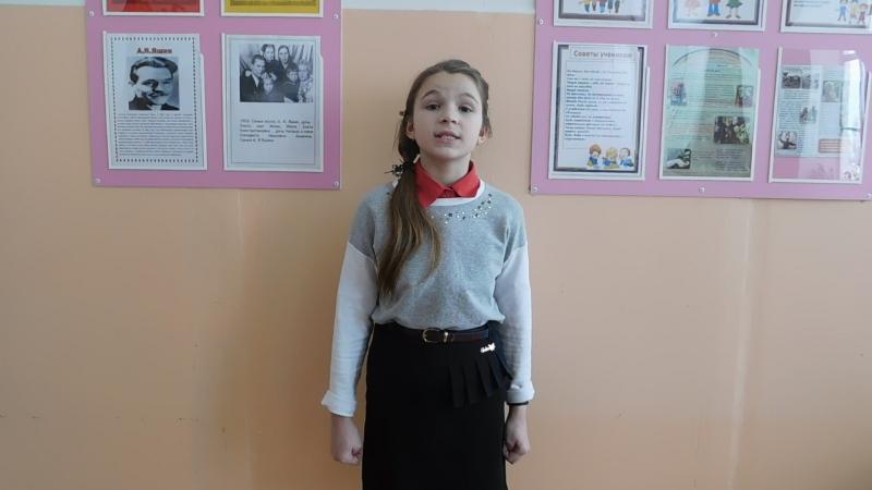 Участница акции Живая вода - Южакова София, ученица 4 класса СОШ №1 г. Никольска.