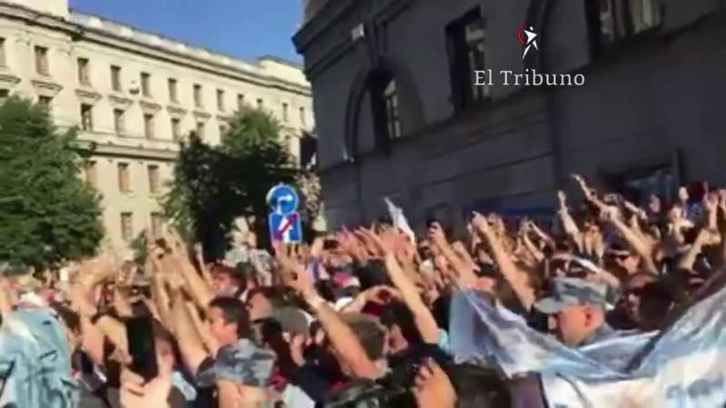 Banderazo en San Petersburgo