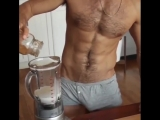 I'd definitely drink his protein shake ???