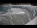 Замерзшие фонтаны в Томске