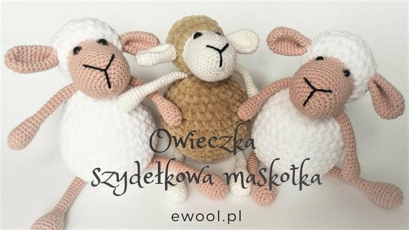 Owieczka - szydełkowa maskotka