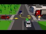 Правила проезда неравнозначных перекрестков, если главная дорога меняет свое направление