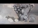 Натюрморт с лилиями - многослойная живопись (часть 2)