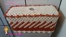 🚽 Capa Caixa Acoplada em Fio Conduzido - Pink Artes Croche by Rosana Recchia