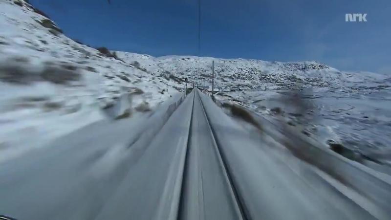 Вид из кабины скоростного поезда 720