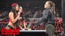 Ronda Rousey Nikki Bella come face-to-face for Women's Title Contract Signing: Raw, Oct. 22, 2018