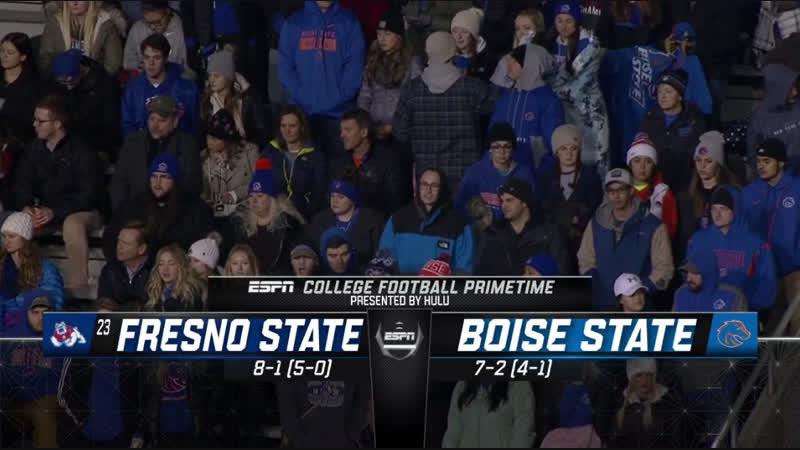 NCAAF 2018 / Week 11 / (23) Fresno State Bulldogs - Boise State Broncos / 1H / EN
