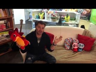 Олег Рой и Дракоша Тоша на студии