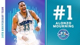 #1 - Alonzo Mourning Hornets 30th Anniversary Team