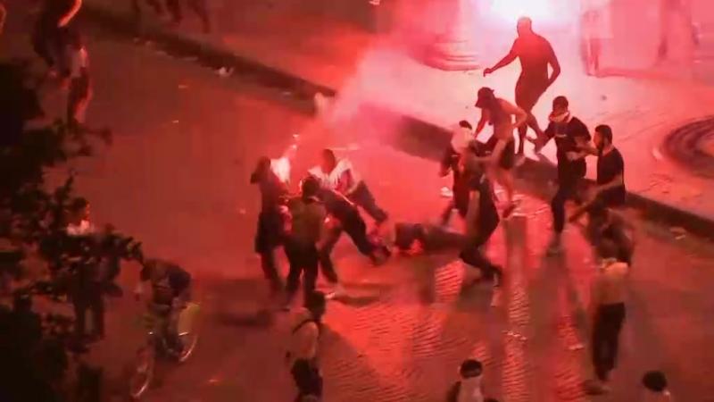 Беспорядки в Париже после победы на ЧМ