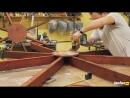 Восьмигранный стол с лавками своими руками из досок _ DIY мебель для дачи