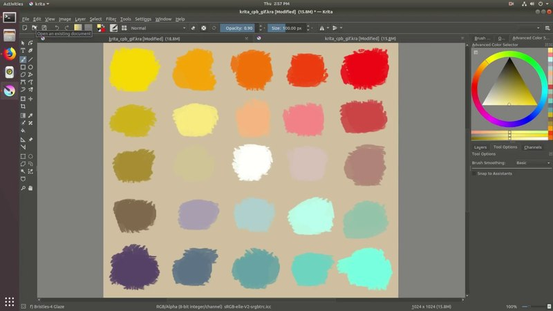 Krita 4 1 New Feature Demo Color Picker Blending