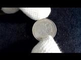 Вскрытие монеты 5 рублей, на пол шишечки открыли крышечку!