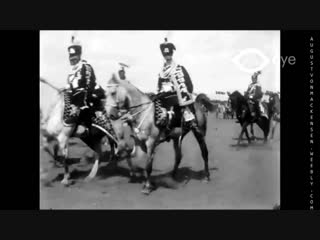 Kaiser Wilhelm II, Crownprince and GFM August von Mackensen. Leib-Husarenregiment in Danzig 1911 - YouTube [720p]