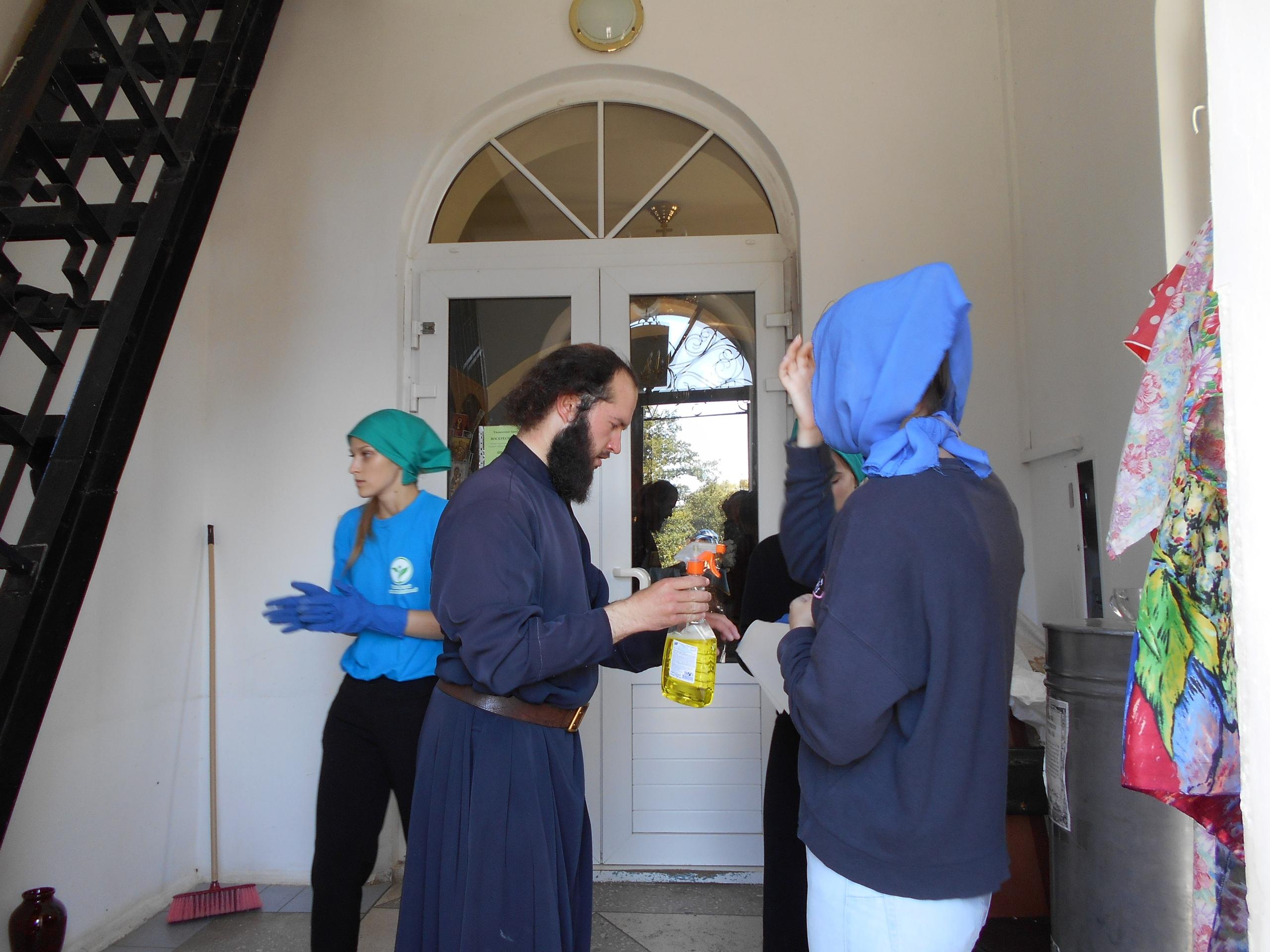 волонтёры ЭкоСферы в пос.Тригуляй