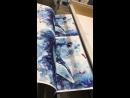 Широкоформатная печать панелей на сатине