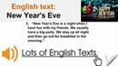 English text - New Year's Eve   Lots of English Texts with Audio
