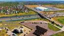 Город Домодедово Южный [aerial survey] Domodedovo city 4K