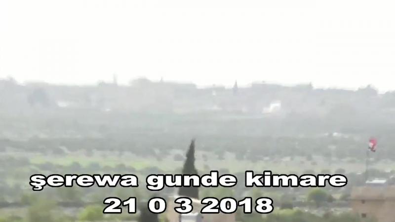 YPG ATGM target the invading turkish army and their jihadi mercenaries in Şerewa district, in the village of Kimare. Afrin - - N