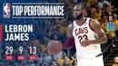 LeBron James Puts Up 29 In Game 2 Of '17-'18 NBA Finals NBANews NBA NBAPlayoffs Cavaliers LeBronJames