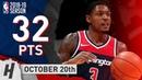 Bradley Beal Full Highlights Wizards vs Raptors 2018 10 20 32 Points