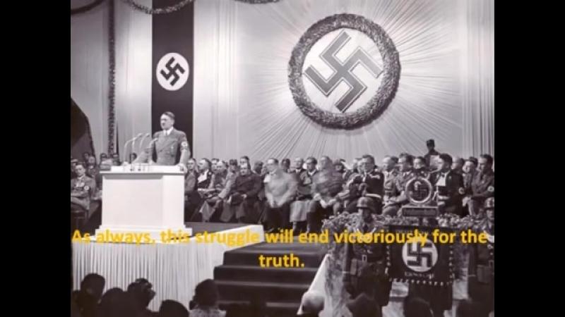 Adolf Hitler – Antwort an US Präsident Roosevelt vom 28.04.1