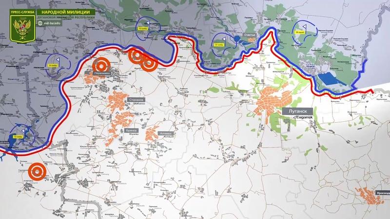 15 октября 2018 - Обстановка на линии соприкосновения за сутки | Карта обстрелов