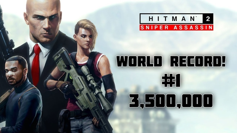 HITMAN 2: Sniper Assassin \ WORLD RECORD! 3.5m \ CO-OP