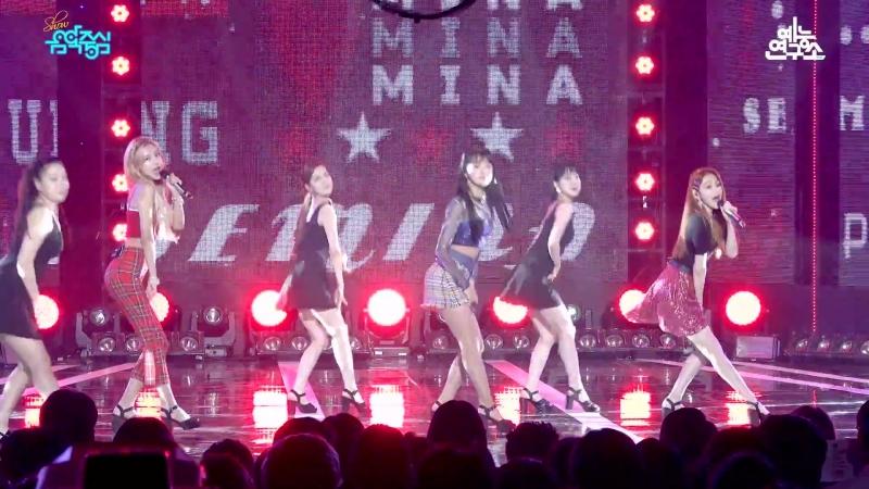[예능연구소] 구구단 세미나 샘이나 @쇼!음악중심_20180721 SEMINA gugudan SEMINA in 4K[1]