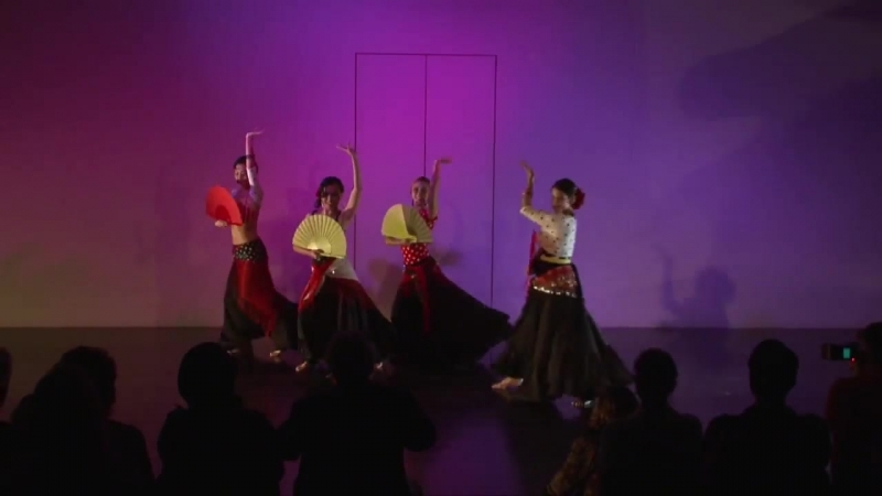 """Fans"" of Flamenco....Song by Dalida....Choreography by Jenna ( http ⁄⁄www.BeyondBellydance.com )"