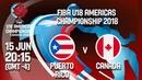 LIVE 🔴 (ENG) - Puerto Rico v Canada - Semi-Finals - FIBA U18 Americas Championship 2018