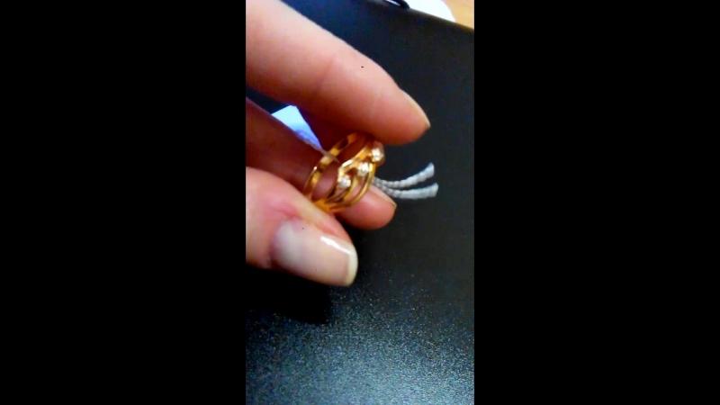 кольцо 585 проба вес 1 96
