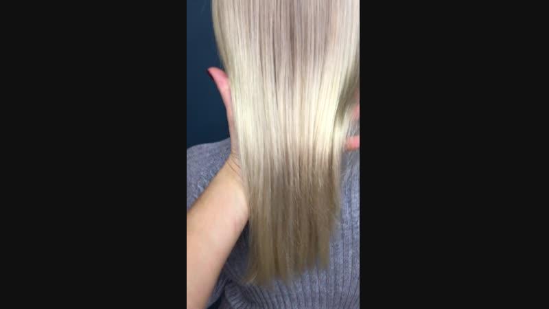 Блонд без окрашивания корней❤️