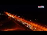 48.Рыцари дорог на рассвете проехали по Крымскому мосту (видео с квадрокоптера)