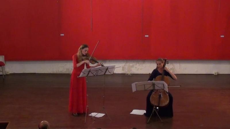 R. Glière_8 Duets for Violin and Cello_ B. TITOVA,violin A. KURDIUMOVA,cello