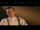 Michael alking about his Inglourious Basterds co-star Brad Pitt