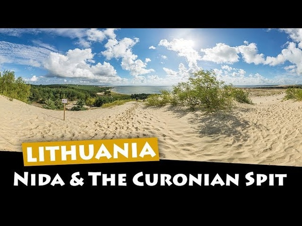 Nida, Lithuania - Exploring the Curonian Spit sand dunes and beach to the Russian border!