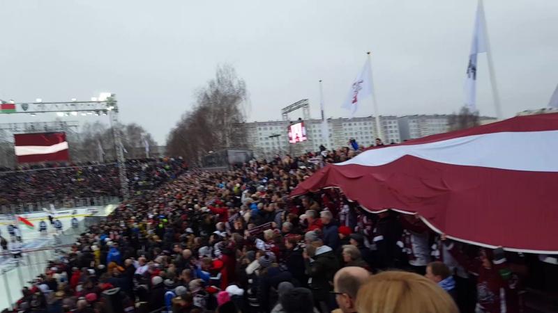 20.01.18. Riga khl game din r.-din minsk.(на свежем воздухе )