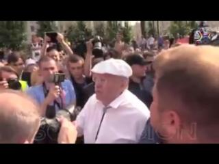 Жириновский - омерзительное существо! Москва, митинг Навального.