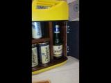 Канистра бар Стандарт в ярком желтом цвете. Максимальный обжиг дерева.