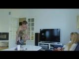 Guy strip naked in front girl (CFNM)