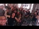 Герои Сирийской армии в аль-Хаджар аль-Асвад в Рамадан Мубарак в перерыве между боями