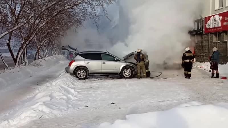 горит авто на Киевской 17.11.18
