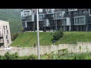 Такого вы не видели - горная газонокосилка на лебёдке!