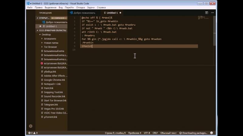 Проект Вирусология _ Пишем скрипт под вирус , картинку на Visual Studio Code